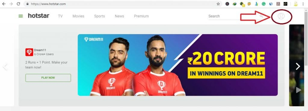 how to watch live cricket match on hotstar for free