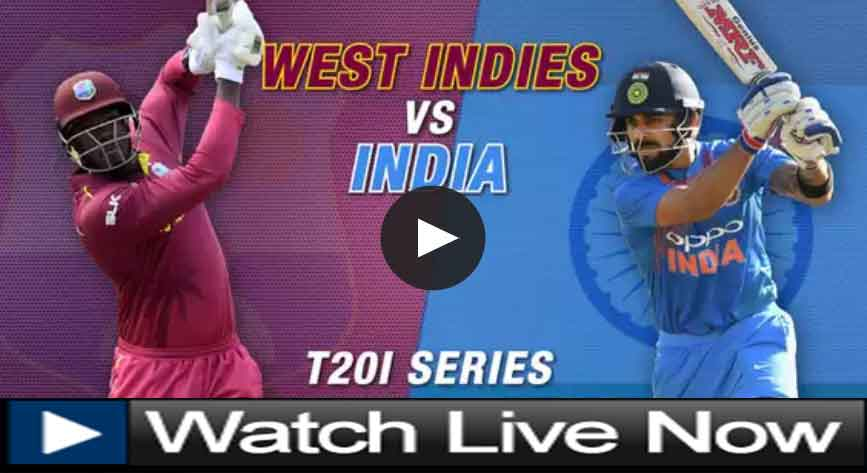 How to watch live cricket match India vs West Indies